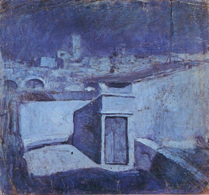 Pablo Picasso. The roofs of Barcelona in the moonlight