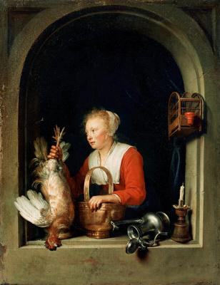 Gerrit (Gerard) Dow. Dutch housewife