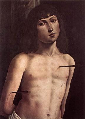 Lorenzo Costa. Saint Sebastian