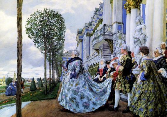 Evgeniy Evgenievich Lansere. Empress Elizabeth Petrovna in Tsarskoe Selo