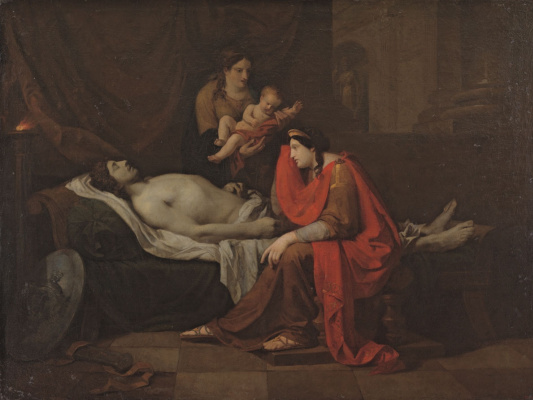 Peter Fedorovich Sokolov. Andromache mourns slain Hector. 1809