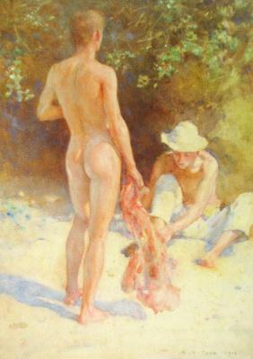 Tuke Henry Scott. 1858-1929. Sunny Corner. 1906