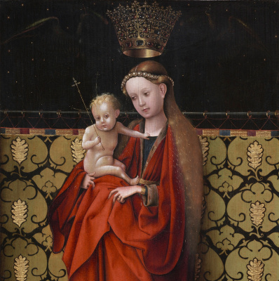 Stefan Lochner. Madonna, crowned angels. About 1450 item