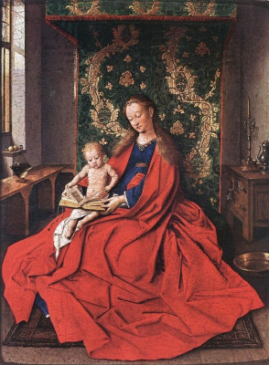 Jan van Eyck. Madonna with reading child