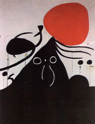 Joan Miro. The woman in front of the sun I