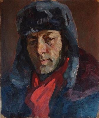 """Yuri Alexandrovich Savinov. """"Portrait of the artist V. I. Smirnov"""""""