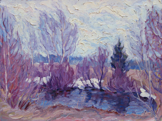 Alexey Vladimirovich Konstantinov. Pond in April