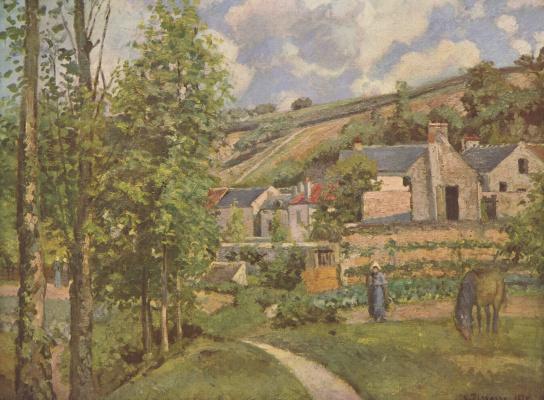 Камиль Писсарро. Пейзаж близ Понтуаза