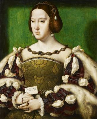 Jos van Kleve. Portrait of Eleanor of Austria, Queen of France (1498-1558) 1531-1534