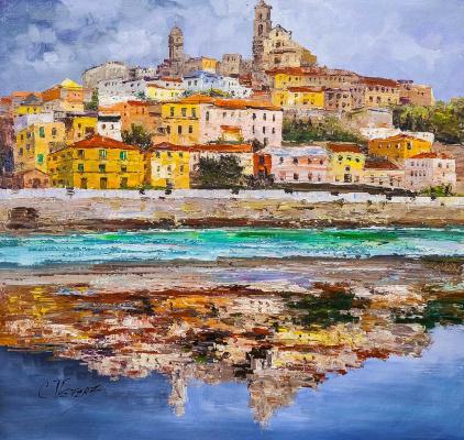(no name). Italian holidays. View of Genoa N2