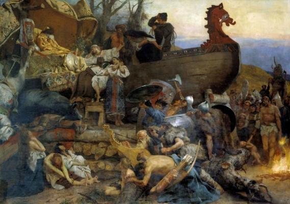 Генрих Ипполитович Семирадский. Похороны знатного руса в Булгаре