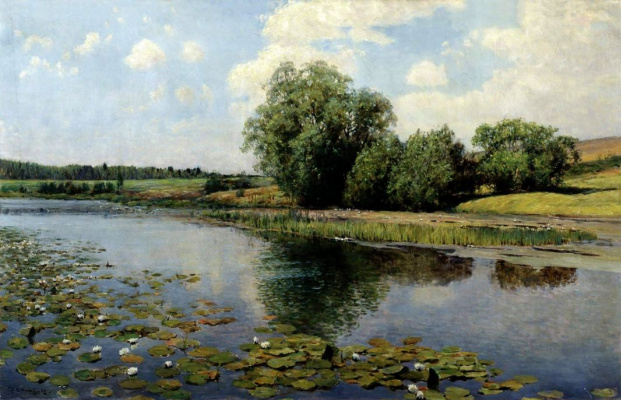 Ilya Semenovich Ostroukhov. The river in the afternoon