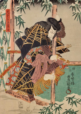 Utagawa Kunisada. Otomo-but Kuronue