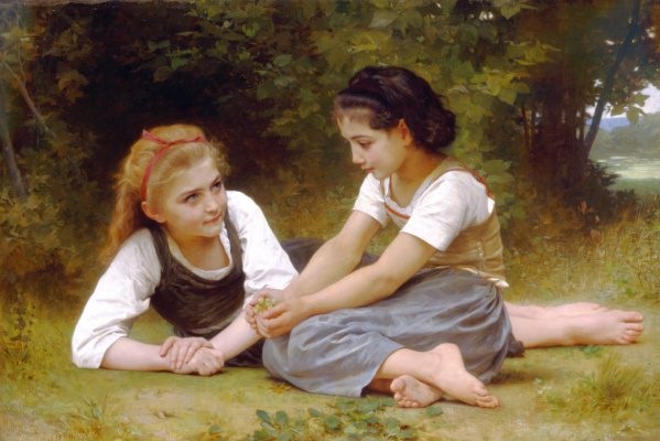 William-Adolphe Bouguereau. The collection of hazelnuts