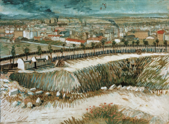 Vincent van Gogh. Outskirts of Paris near Montmartre