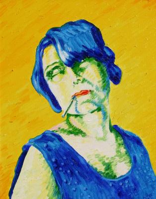 Alexander Ocher Kandinsky-DAE. A lady with a cigarette