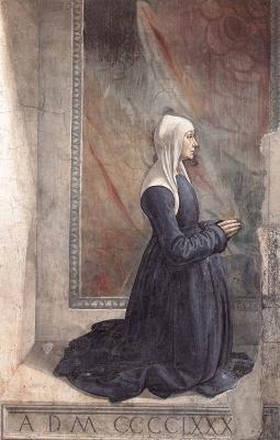 Domenico Girlandajo. The portrait of the Madonna