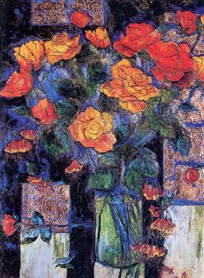 Джоан Готье. После дождя, вазы с розами
