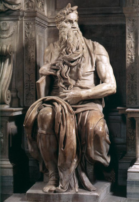 Michelangelo Buonarroti. The tomb of Pope Julius II. Moses (detail)