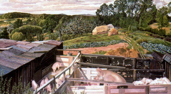 Stanley Spencer. Pigs