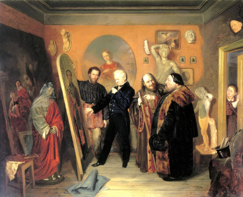 Vasily Vladimirovich Pukirev. In the artist's Studio