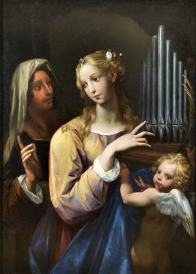 Cesari Giuseppe (Cavalier d'Arpino). Saint Cecilia. 1630 approx.