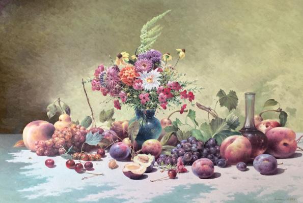 Vasily Ivanovich Gribennikov. Still-life with flowers