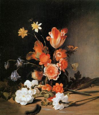Дирк де Брей. Натюрморт с цветами