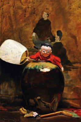 William Merritt Chase. Japanese doll