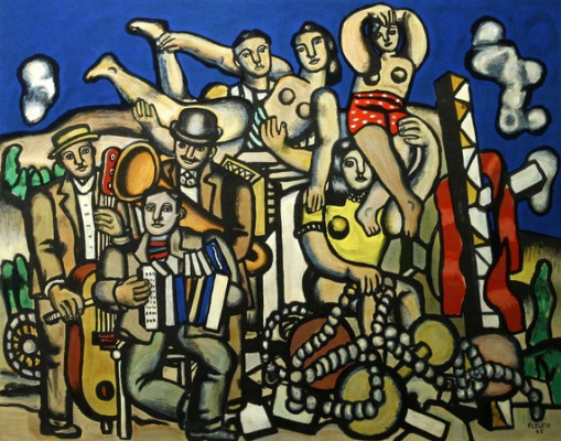 Fernand Leger. Musicians and acrobats