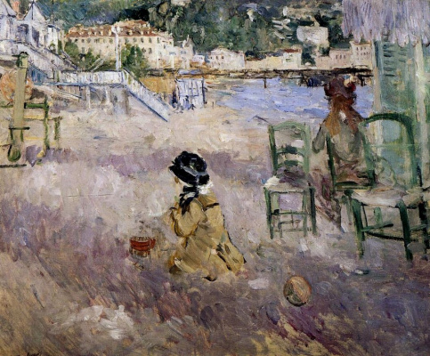 Berthe Morisot. The beach in nice