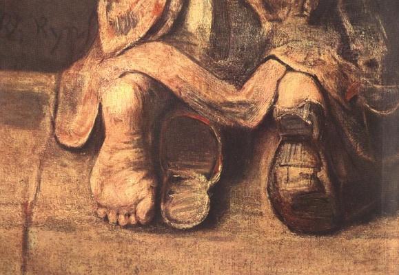 Rembrandt Harmenszoon van Rijn. The return of the prodigal son, fragment