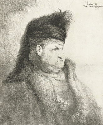 Jan Livens. The gentleman from the East in a fur hat
