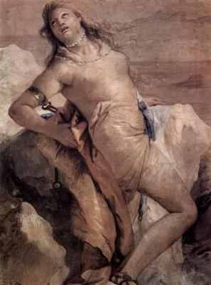 Джованни Баттиста Тьеполо. Минерва хочет принудить Ахилла убить Агамемнона. Фрески из виллы Валлмарана, Виченца
