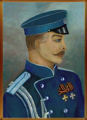 Vladimir Pavlovich Parkin. Портрет ротмистра Кудашева Александра Георгиевича