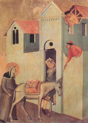 Pietro Lorenzetti. Bricks to the monastery
