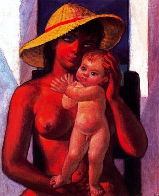 Иисус де Персеваль. Обнаженная мать с ребенком