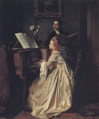 Carolus-Durand. Music lesson