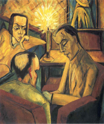 Erich Heckel. Reading aloud