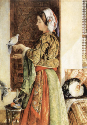 Джон Фредерик Льюис. Пойманный голубь, Каир