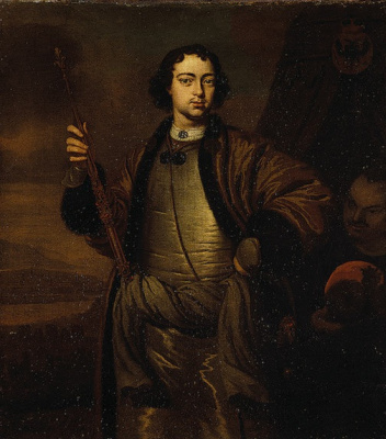 Adrian van der Werf. Portrait Of Peter The Great