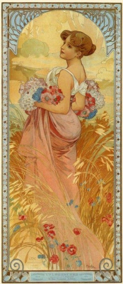 Alfons Mucha. Summer. Four seasons