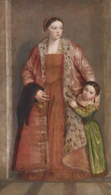 Паоло Веронезе. Портрет графини Ливии да Порто Тьене и ее дочери Дейдамии