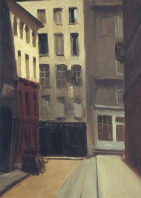 Edward Hopper. Paris street