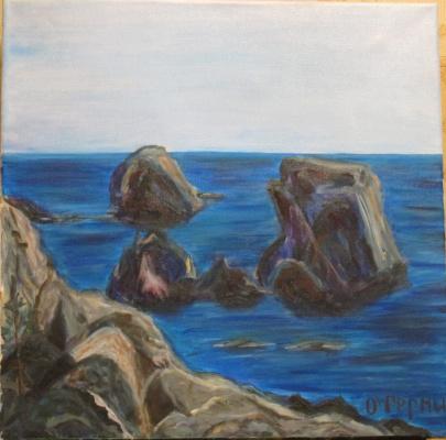 Olga Hermiseeva. Crimea cliffs Emerald