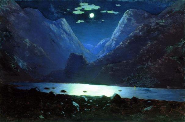 Arkhip Ivanovich Kuindzhi. Dariali gorge. Moonlit night