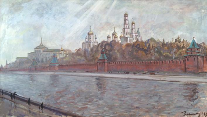 Marat Savelievich Gogaev. November. Kremlin embankment