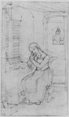 Франц Пфорр. Мария в комнате