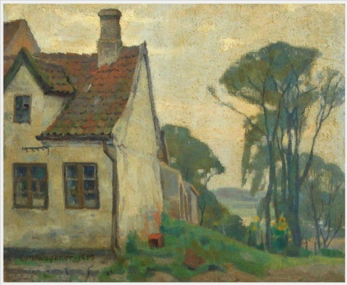 Einar Wegener (Lily Elbe). Landscape with a house
