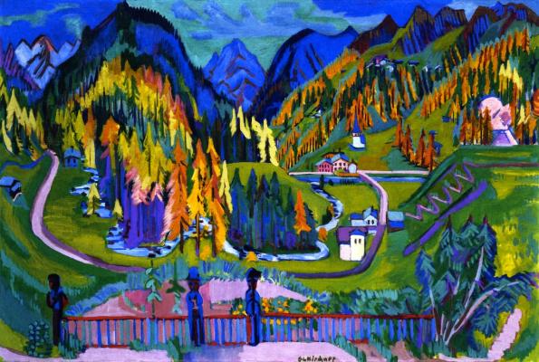 Ernst Ludwig Kirchner. Sertig valley in autumn